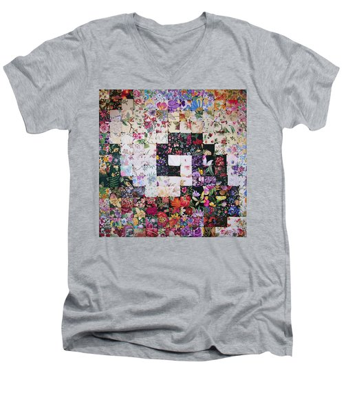 Watercolor Swirl Men's V-Neck T-Shirt