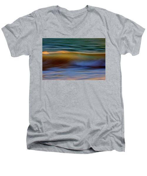 Wave Abstact Men's V-Neck T-Shirt