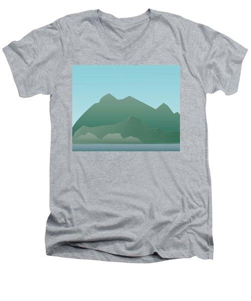 Wave Mountain Men's V-Neck T-Shirt