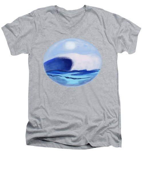 Waves Coming Toward The Shore Men's V-Neck T-Shirt