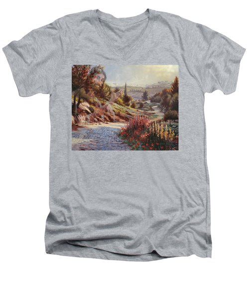 We Will Walk In His Paths 2 Men's V-Neck T-Shirt