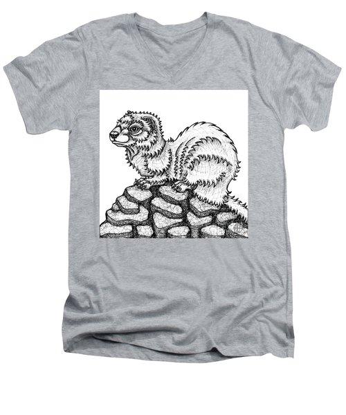 Weasel Men's V-Neck T-Shirt