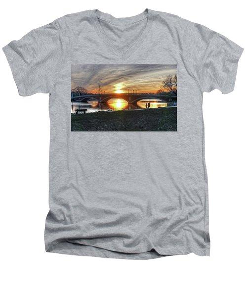 Weeks Bridge At Sunset Men's V-Neck T-Shirt