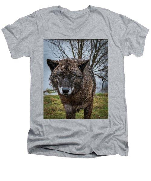 Wet Wolf Men's V-Neck T-Shirt
