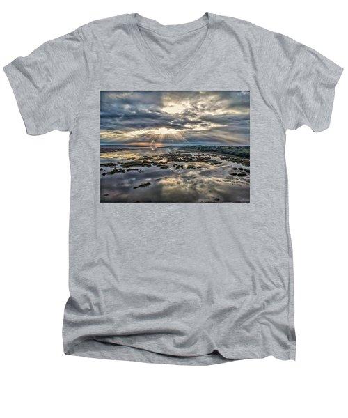 Whale Branch - Angel Rays Men's V-Neck T-Shirt