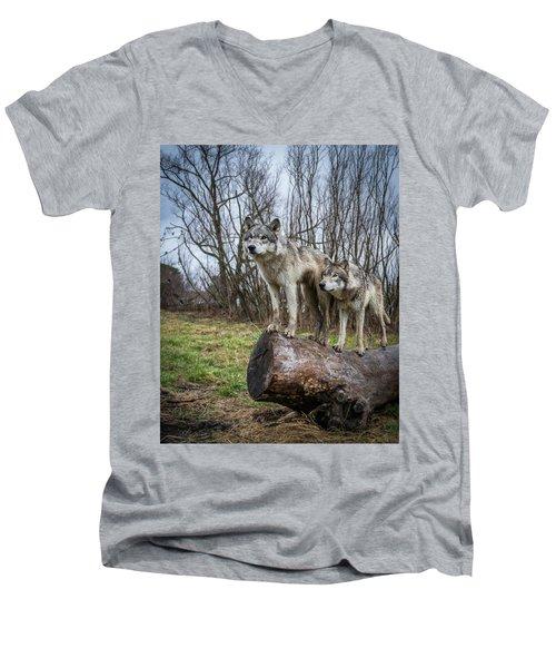 What Ya Looking At Men's V-Neck T-Shirt