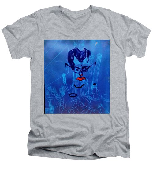 When His Face Is Blue For You Men's V-Neck T-Shirt