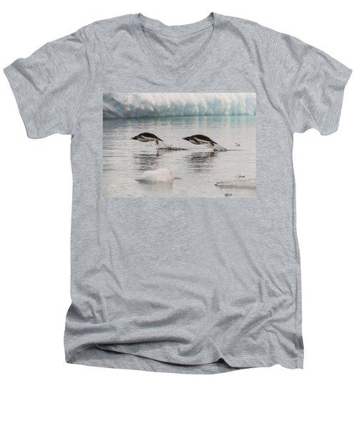 When Penguins Fly Men's V-Neck T-Shirt