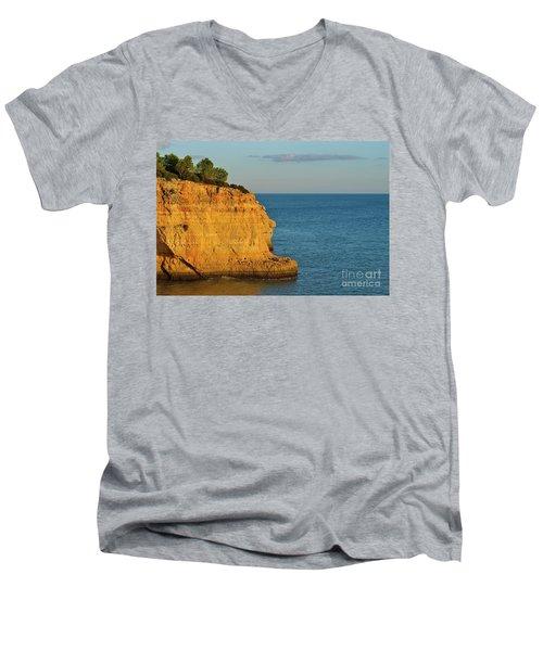 Where Land Ends In Carvoeiro Men's V-Neck T-Shirt