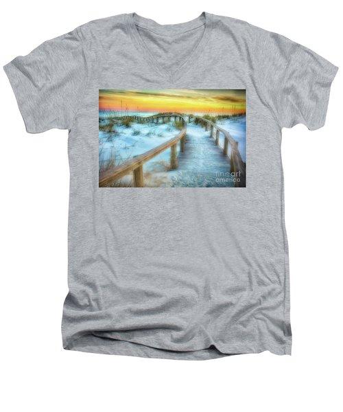 Where The Path Leads Men's V-Neck T-Shirt