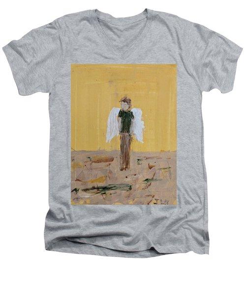 Whistling Angel Men's V-Neck T-Shirt