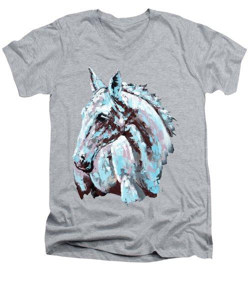 White Horse Men's V-Neck T-Shirt