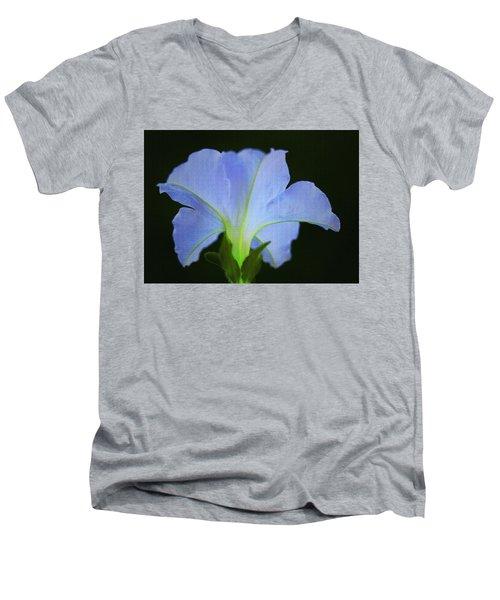 White Petunia Men's V-Neck T-Shirt