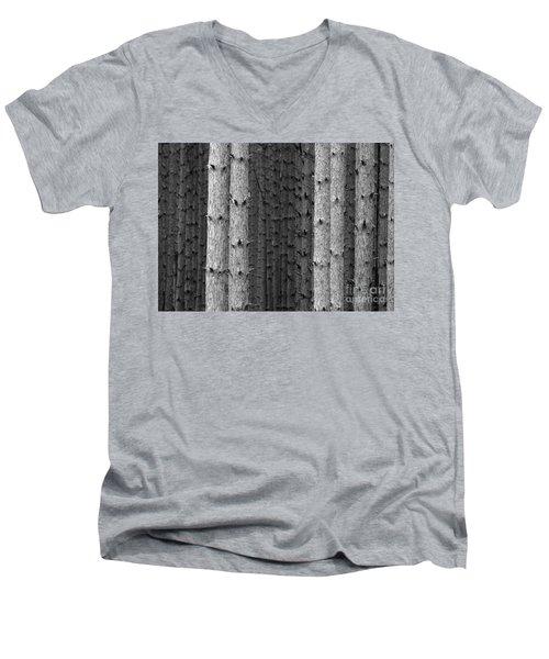 White Pines Black And White Men's V-Neck T-Shirt