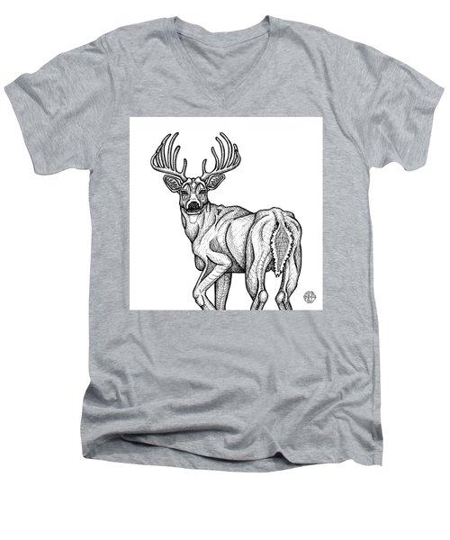 White Tailed Buck Men's V-Neck T-Shirt