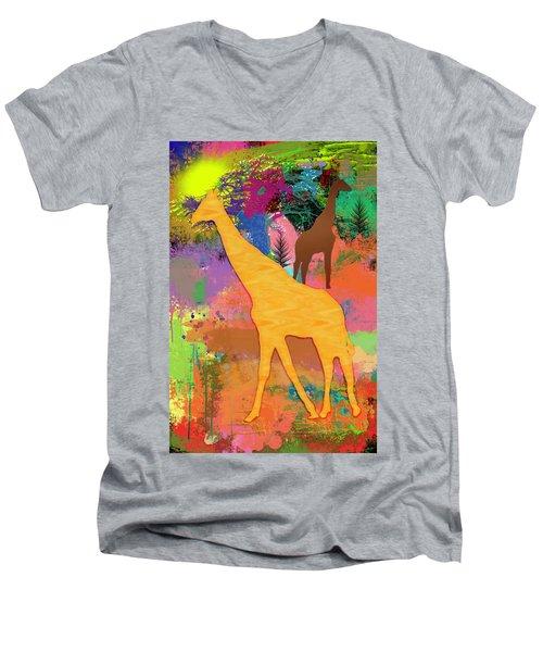 Wild Africa Men's V-Neck T-Shirt