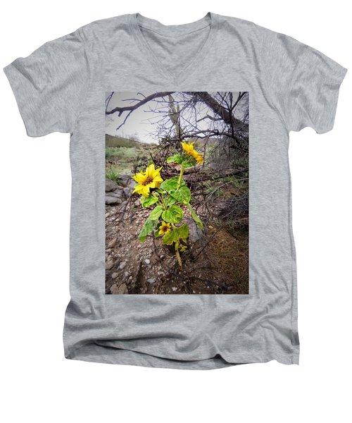 Wild Desert Sunflower Men's V-Neck T-Shirt