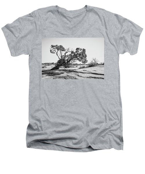 Men's V-Neck T-Shirt featuring the photograph Will To Survive by Andy Crawford