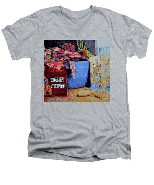 Wine With Honesty Men's V-Neck T-Shirt