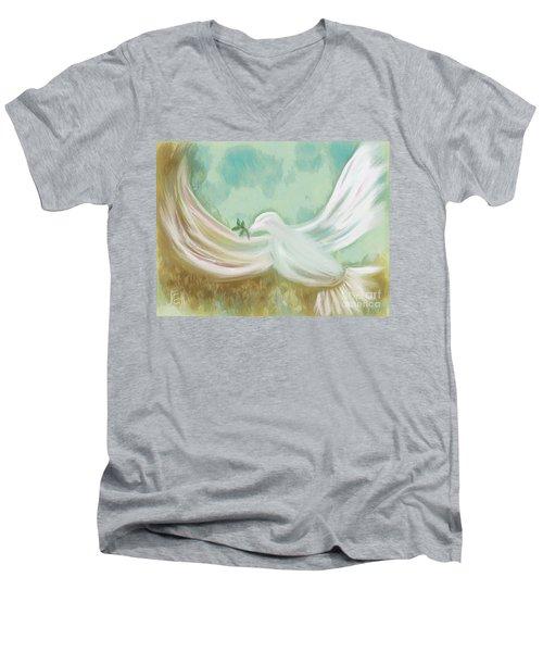 Wings Of Peace Men's V-Neck T-Shirt