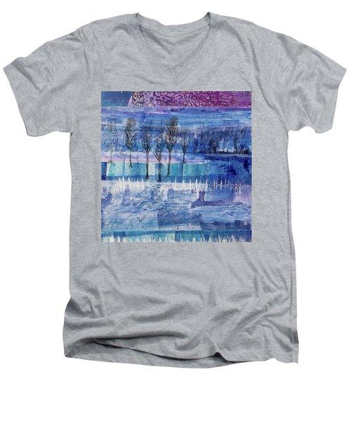 Winter Blues 1 Men's V-Neck T-Shirt