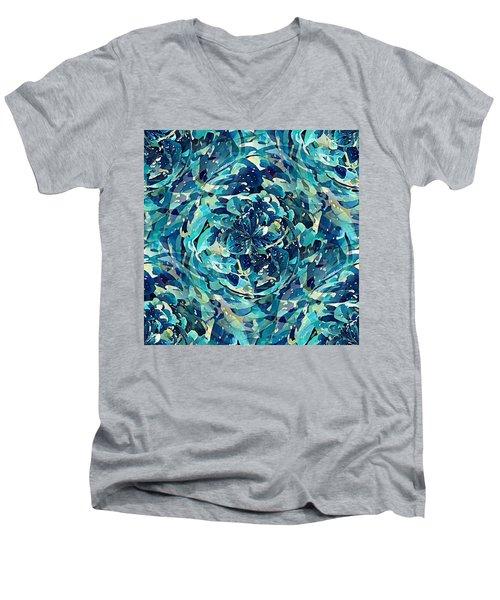 Winter Floral Men's V-Neck T-Shirt