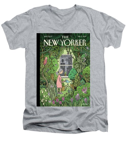 Winter Garden Men's V-Neck T-Shirt