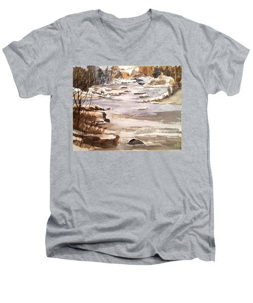 Winters Day Men's V-Neck T-Shirt