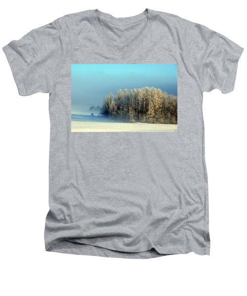 Winter's Heavy Frost Men's V-Neck T-Shirt