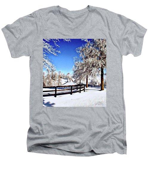 Wintry Lane Men's V-Neck T-Shirt