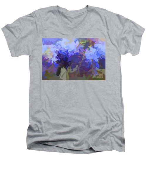 Wisteria Colours Men's V-Neck T-Shirt