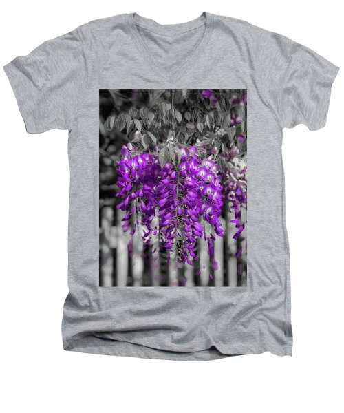 Wisteria Falling Men's V-Neck T-Shirt