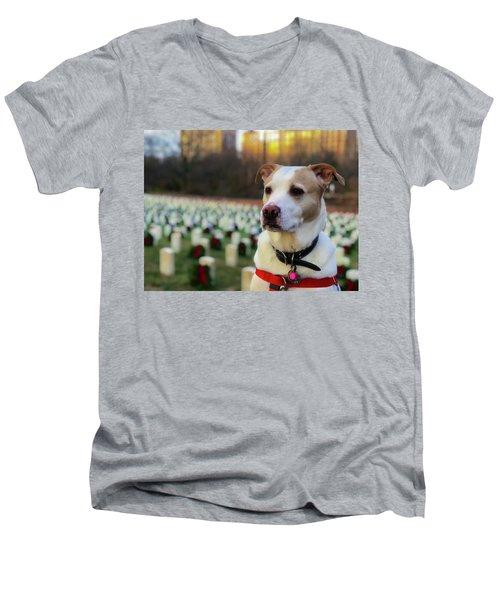 With Respect  Men's V-Neck T-Shirt
