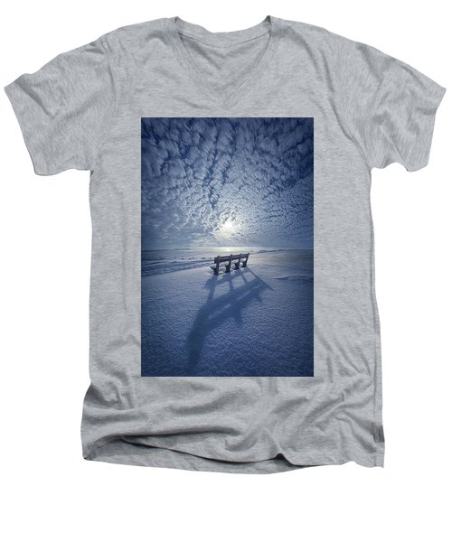 Men's V-Neck T-Shirt featuring the photograph Within The Absence Are The Memories by Phil Koch