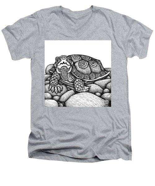 Wood Turtle Men's V-Neck T-Shirt