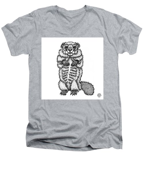 Woodchuck Men's V-Neck T-Shirt