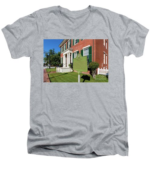 Woodrow Wilson Boyhood Home - Augusta Ga 1 Men's V-Neck T-Shirt