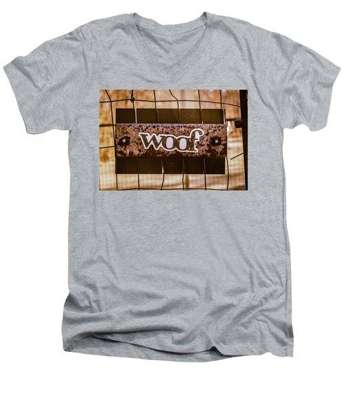 Woof Men's V-Neck T-Shirt