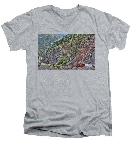 Work Tracks Men's V-Neck T-Shirt