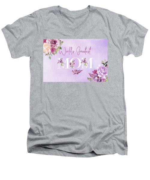 World's Greatest Mom 2 Men's V-Neck T-Shirt
