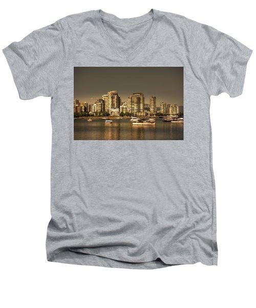 Yaletown Golden Hour Men's V-Neck T-Shirt
