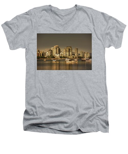 Yaletown Golden Hour Men's V-Neck T-Shirt