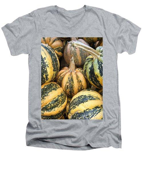 Yellow And Green Pumpkins Men's V-Neck T-Shirt