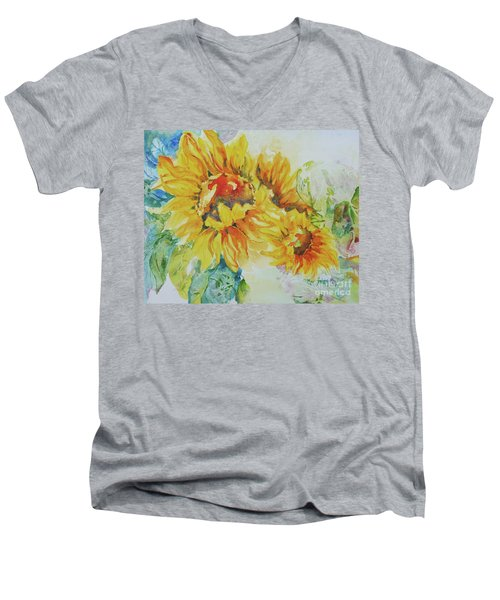 Yellow Beauty Men's V-Neck T-Shirt