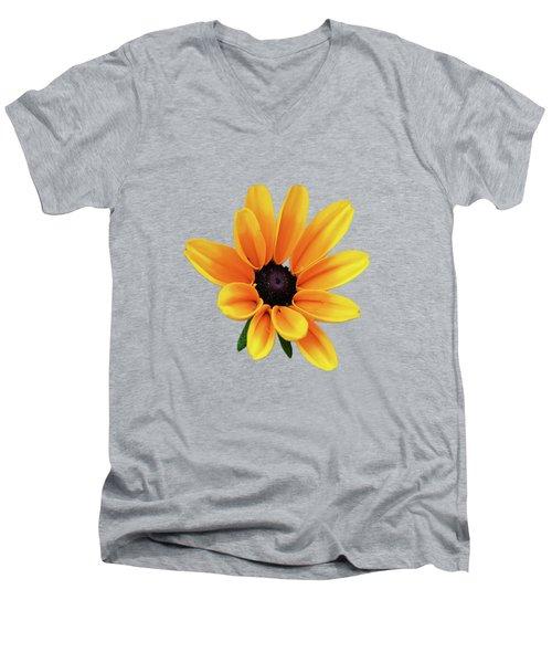 Yellow Flower Black Eyed Susan Men's V-Neck T-Shirt