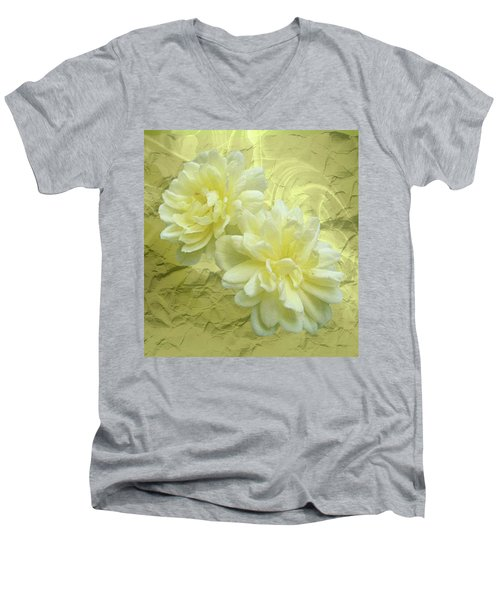 Yellow Foil Men's V-Neck T-Shirt