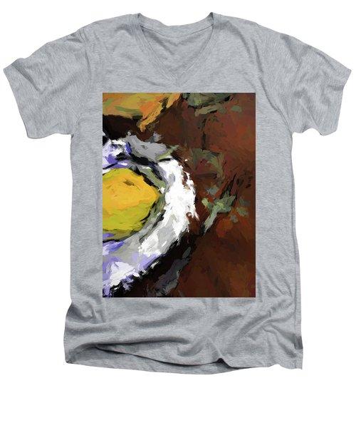 Yellow Lemon In The Bowl Men's V-Neck T-Shirt