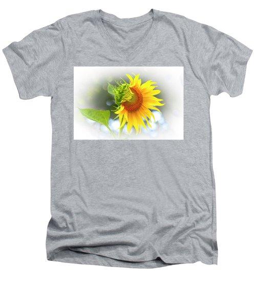 Yellow Petals Of Sunshine Men's V-Neck T-Shirt