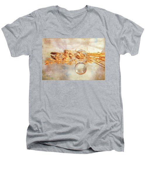 Men's V-Neck T-Shirt featuring the photograph Yesterday's Seeds by Randi Grace Nilsberg