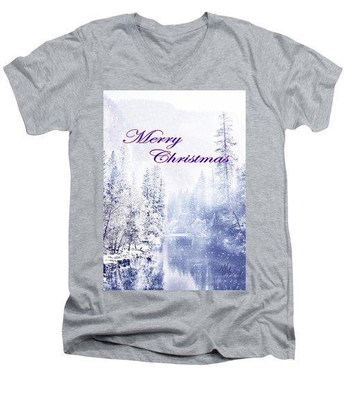 Yosemite-river Men's V-Neck T-Shirt
